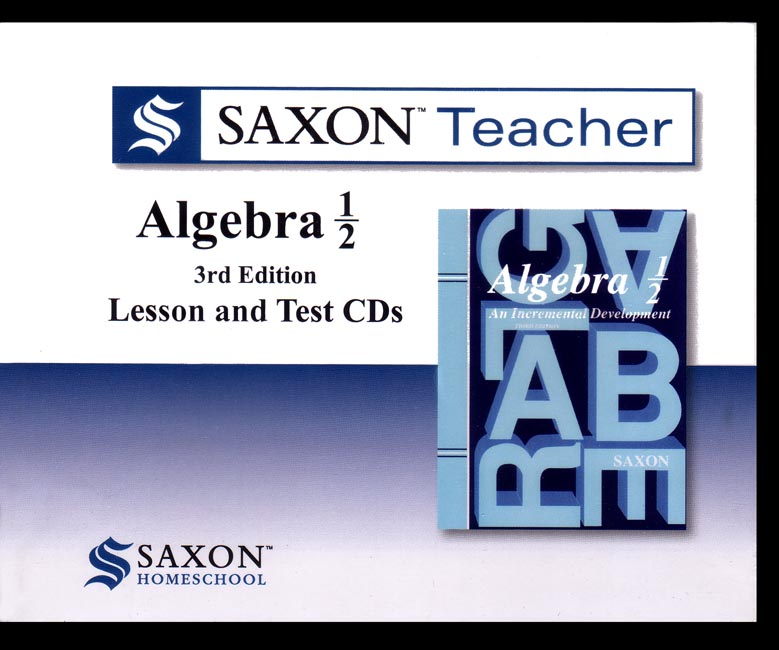 Saxon Teacher Algebra 1/2 3rd Edition