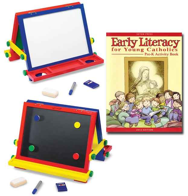 Early Literacy Workbook  with Easel
