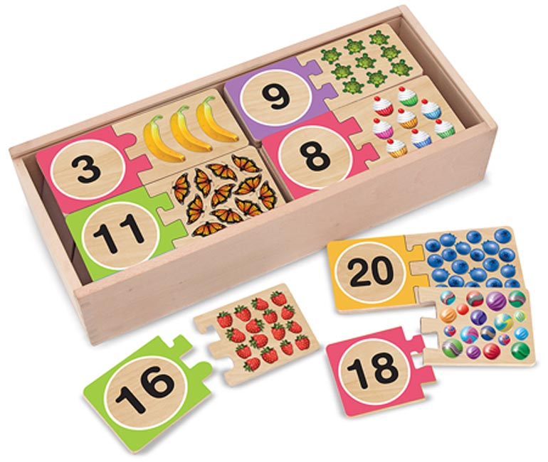 Numbers Wooden Puzzle Cards