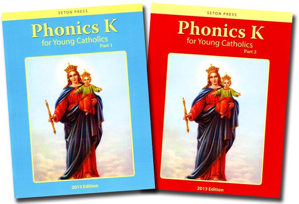 Kindergarten Phonics Set/ Parts 1 & 2 for Young Catholics