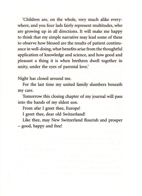 book analysis swiss family robinson An analysis of the swiss family robinson, a story by johann david wyss pages 1  moral values, johann david wyss, the swiss family robinson, family in distress.
