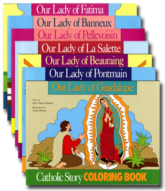 Set of 4 Marian Apparition Coloring Books