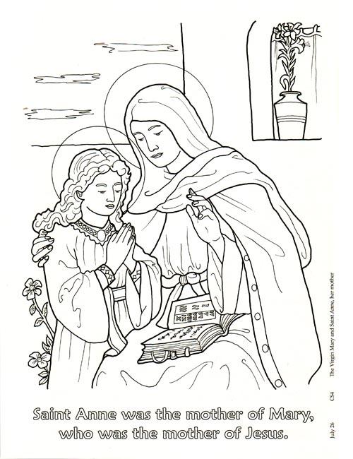 Preview Communion Of Saints Coloring Book Seton Educational Media Catholic Games Saint Elizabeth