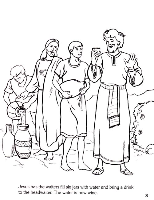 coloring pages miracles of jesus - photo#15