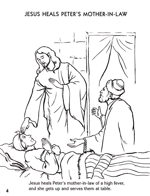 coloring pages miracles of jesus - photo#21