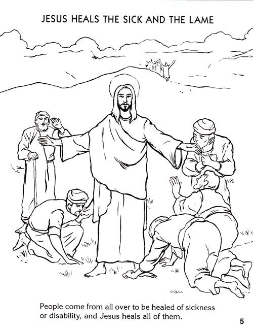 Free Coloring Pages Of Jesus Healing
