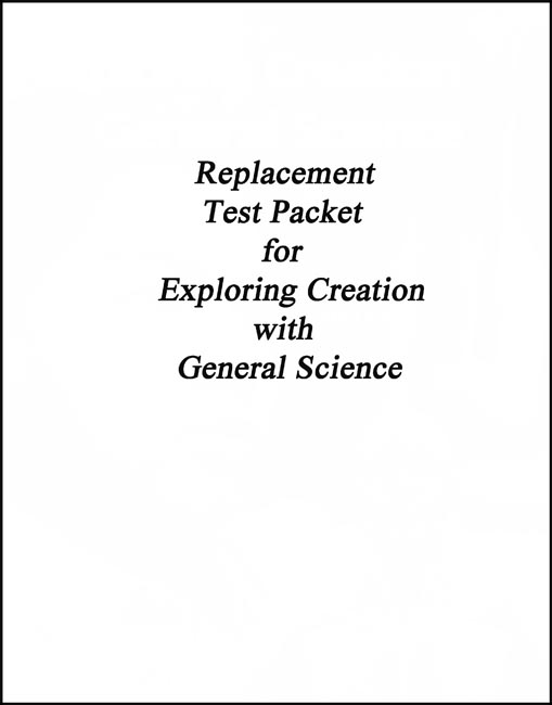 Exploring Creation w/ Gen. Science  Replacement Test Pack