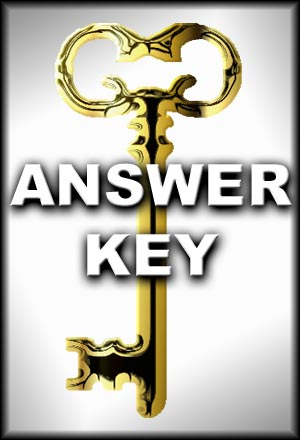 Prose and Poetry of England, Answer Key