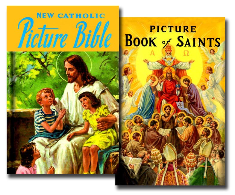 Picture Bible and Book of Saints set